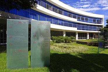 Public Library by architect Oscar Niemeyer, Belo Horizonte, Minas Gerais, Brazil, South America