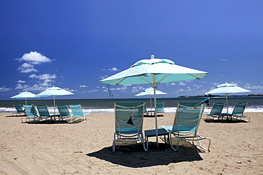Beach at the olf and luxury resort of Saint-Regis, Bahia Beach, Puerto Rico, West Indies, Caribbean, Central America