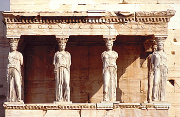 The Caryatids of the Erechteion (the Porch of the Caryatids or Six Maidens), The Acropolis