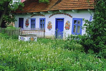 Painted house, Zalipie, Little Poland, Poland