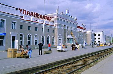 Oulaan Bator Station, Trans-Mongolian train, Mongolia, Asia