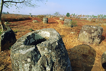 The 2000 year old Plain of Jars, Xieng Khuang Province, Laos, Asia