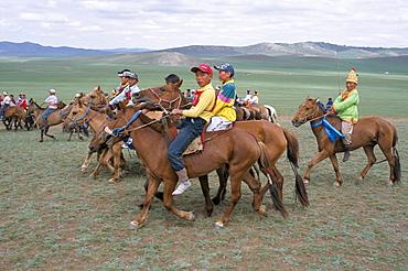 Naadam festival, Orkhon valley, Ovorkhangai, Mongolia, Central Asia, Asia