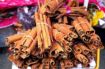 Cinnamon, Saint Antoine market, Pointe a Pitre, Guadeloupe, Caribbean