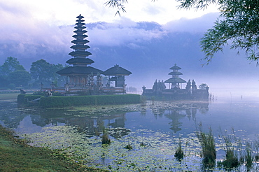 Pura Ulun temple, Danu Bratan, island of Bali, Indonesia, Southeast Asia, Asia