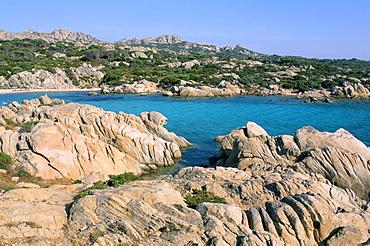 Cala Serena, island of Caprera, archipelago Maddalena, island of Sardinia, Italy, Mediterranean, Europe