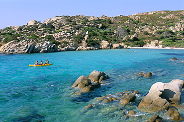 Cala Serena, Caprera island, Maddalena archipelago, island of Sardinia, Italy, Mediterranean, Europe