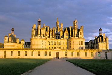 Chateau de Chambord, UNESCO World Heritage Site, Loir-et-Cher, Pays de Loire, Loire Valley, France, Europe