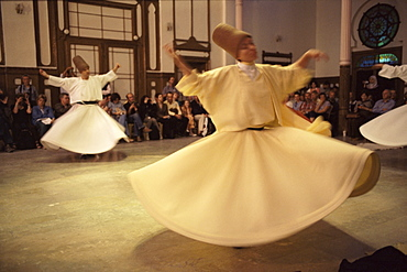 Whirling dervishes, Istanbul, Marmara province, Turkey, Europe