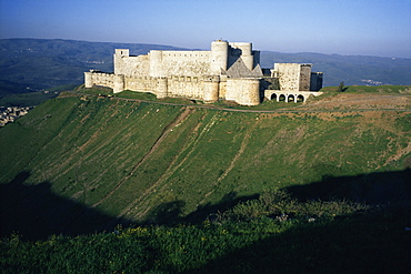 Crusader castle, Krak des Chevaliers, near Homs, Syria, Middle East