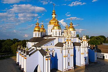 Golden domes of St. Michael Monastery, Kiev, Ukraine, Europe
