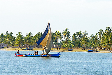 Fishing boat, Morondava, Madagascar, Indian Ocean, Africa