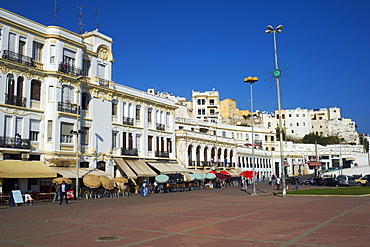Espagne Street on the seafront, Tangier, Morocco, North Africa, Africa