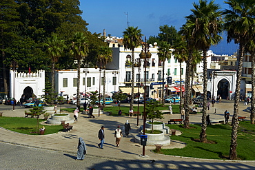 Grand Socco (April 9 1947 Square), New City, Tangier, Morocco, North Africa, Africa