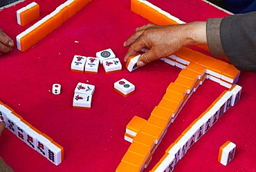Mahjong players, Baisha village around Lijiang, Yunnan, China, Asia