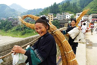 Black Miao ethnic group, market around Congjiang, Guizhou Province, China, Asia