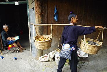 Dong village of Zhaoxing, Guizhou Province, China, Asia
