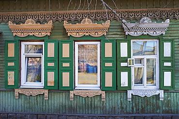 Wooden architecture, Irkutsk, Siberia, Russia, Eurasia