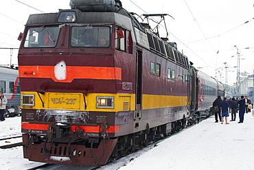 Railway station on the Trans-Siberian line, Kirov, Kirov Oblast, Russia, Eurasia