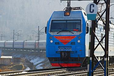 Trans-Siberian train in Siberia, Russia, Eurasia