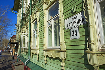 Wooden architecture, Tomsk, Tomsk Federation, Siberia, Russia, Eurasia