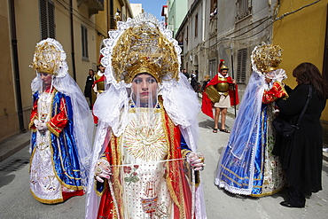 La Veronica, Procession of the Mysteries (Processione dei Misteri viventi), Holy Thursday, Marsala, Sicily, Italy, Europe
