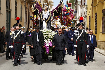 Procession of the Mysteries (Processione dei Misteri viventi), Holy Thursday, Marsala, Sicily, Italy, Europe