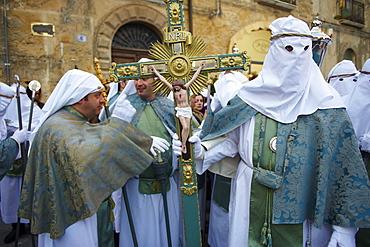 Procession on Good Friday, Enna, Sicily, Italy, Europe