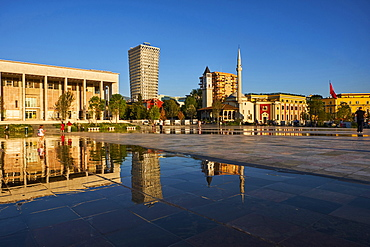 Skanderbeg Square, Tirana, Albania, Europe