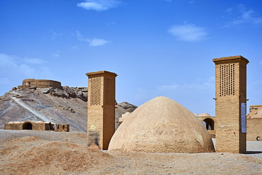 Towers of Silence, Zoroastrian site, Yazd, Yazd Province, Iran, Middle East