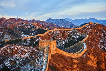 Sunlit Jinshanling and Simatai sections of the Great Wall of China, Unesco World Heritage Site, China, East Asia
