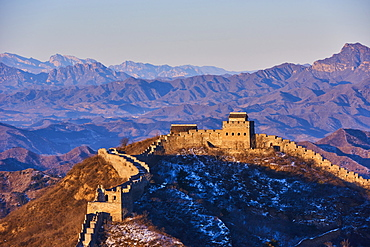 Elevated view Jinshanling and Simatai sections of the Great Wall of China, Unesco World Heritage Site, China, East Asia