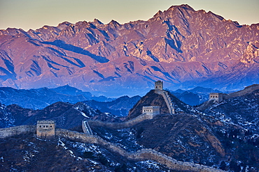 Aerial view of the Jinshanling and Simatai sections of the Great Wall of China, Unesco World Heritage Site, China, East Asia - 712-2900