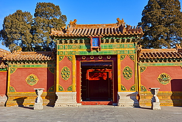 Minor gate in the Forbidden City, Beijing, China