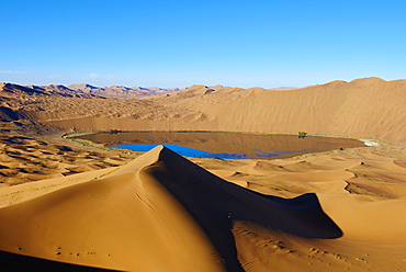 Badain Jaran Desert, Gobi Desert, Inner Mongolia, China, Asia - 712-2945
