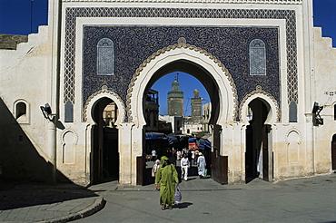 Bab Bou Jeloud, Fes el Bali, Fez, Morocco, North Africa, Africa