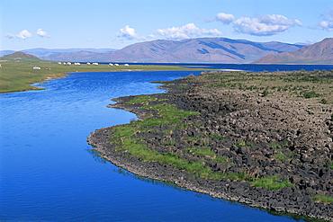 Lake Terkhiin Tsagaan Nuur, volcanic region of Khorgo, Arkhangai, Mongolia, Central Asia, Asia