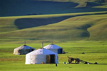Nomads' camp, Terkhin Valley, Arkhangai, Mongolia