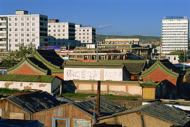 General view of Ulan Bator, Tov, Mongolia, Central Asia, Asia