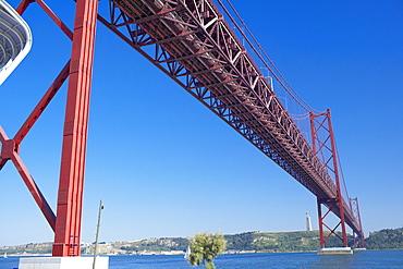 25th April bridge over the Tagus river, Lisbon, Portugal, Europe