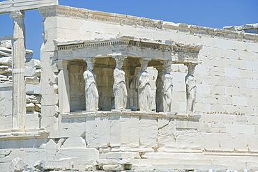 Porch of Caryatids, Erechtheion Temple, Acropolis, UNESCO World Heritage Site, Athens, Greece, Europe