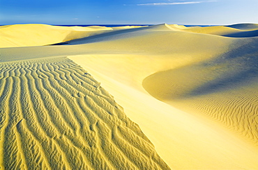 Sand dunes of Maspalomas, Gran Canaria, Canary Islands, Spain, Atlantic, Europe  - 718-1636