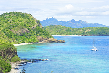 Nanuya Balavu Island, in the background Waya Island, Yasawa island group, Fiji, South Pacific islands, Pacific