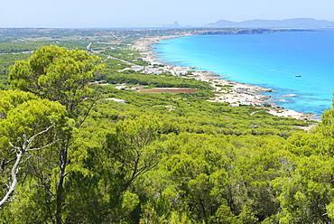 Formentera Island, top view, Balearic Islands, Spain, Mediterranean, Europe