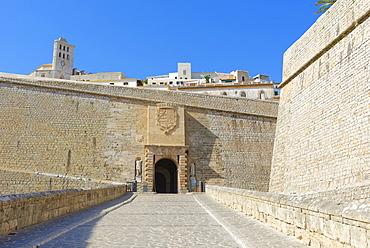 Fortified Ibiza Old Town (Dalt Vila), UNESCO World Heritage Site, Ibiza, Balearic Islands, Spain, Europe