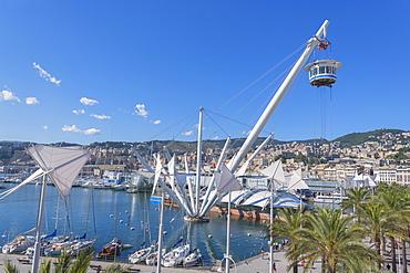 Bigo and Genoa Harbor, Genoa, Liguria, Italy