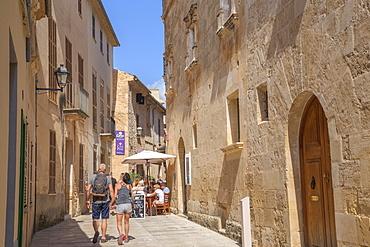 Streets in Alcudia, Alcudia, Mallorca (Majorca), Balearic Islands, Spain, Europe