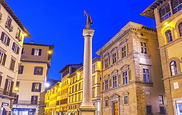Column of Justice in the Piazza Santa Trinita, Florence, Tuscany, Italy, Europe