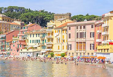 Bay of Silence beach, Sestri Levante, Liguria, Italy, Europe