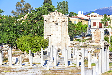 Remains of the Roman Agora and Tower of Winds, Athens, Greece, Europe